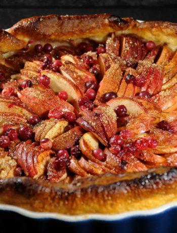 ābolu lielpīrāgs, ābolu ēdiens ar dzērvenēm